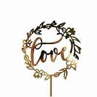 Love topper goud