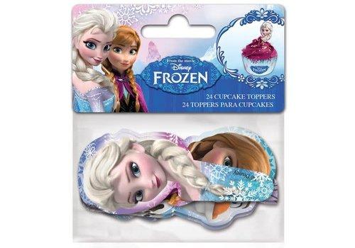 Stor Papieren Cupcake Toppers Frozen pk/24