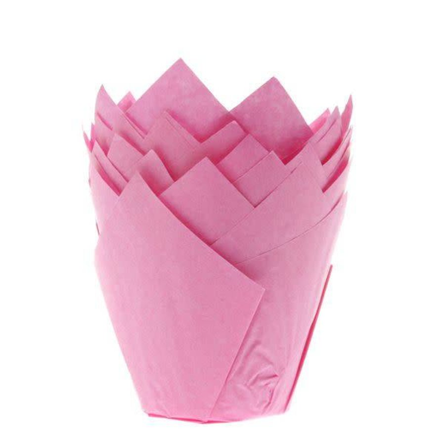 House of Marie Muffin Cups Tulp Roze pk/36-1