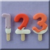 Alphabeth moulds AM lolly numbers