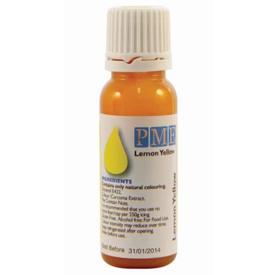 PME Natural Food Colour - geel - 25g-1