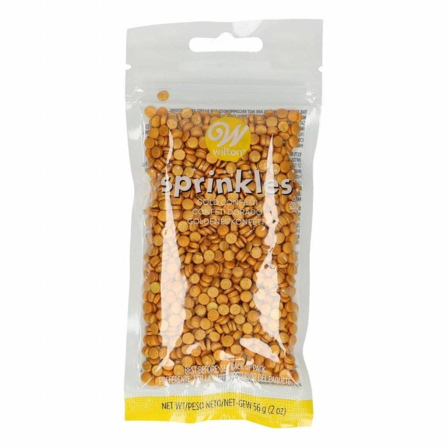 Wilton Sprinkles -Gold Small Confetti- 56g-1