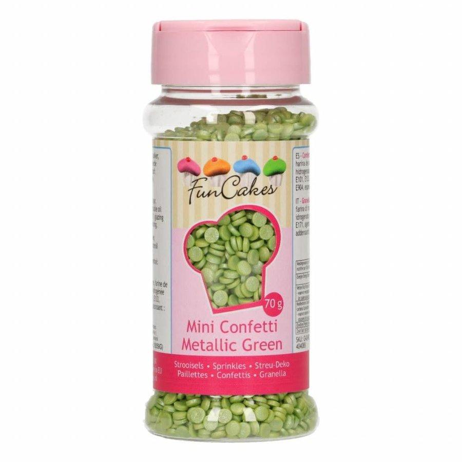 FunCakes Confetti Metallic Groen 70g-1