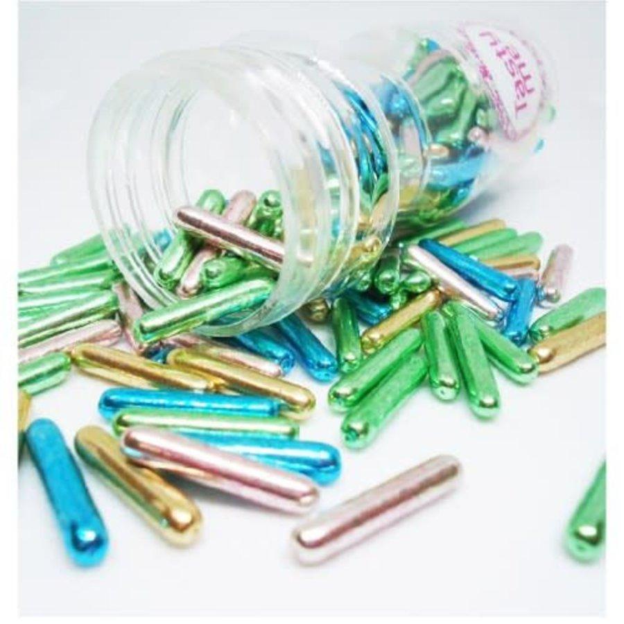 Suiker staafjes metallic mix-1