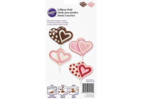 Lollipop Mold Double Heart