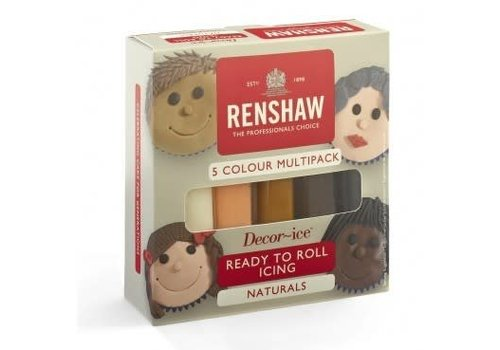 Renshaw Rolfondant Pro Multipack -Natural Colours- 5x100g