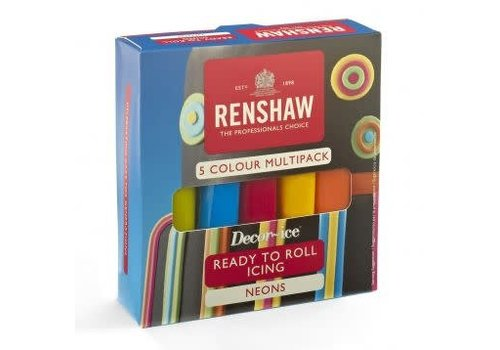 Renshaw Rolfondant Pro Multipack -Neon Colours- 5x100g