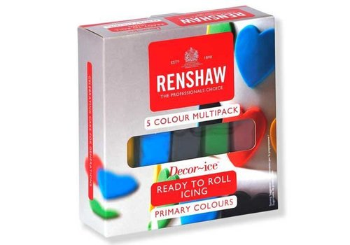Renshaw Rolfondant Pro Multipack -Primary Colours- 5x100g