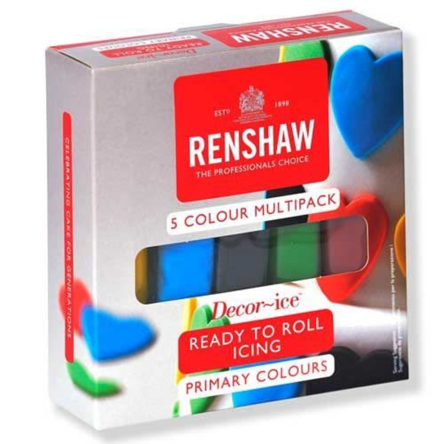 Renshaw Rolfondant Pro Multipack -Primary Colours- 5x100g-1