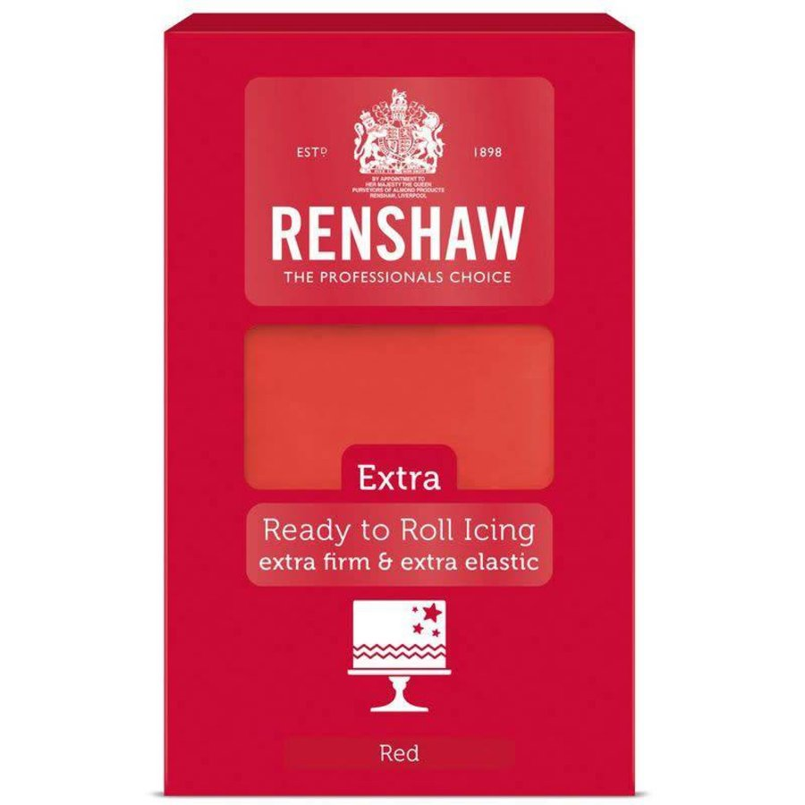 Renshaw extra fondant rood red 1 kilo-1