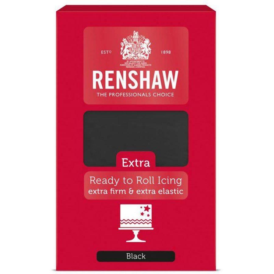 Renshaw extra fondant zwart black 1 kilo-1