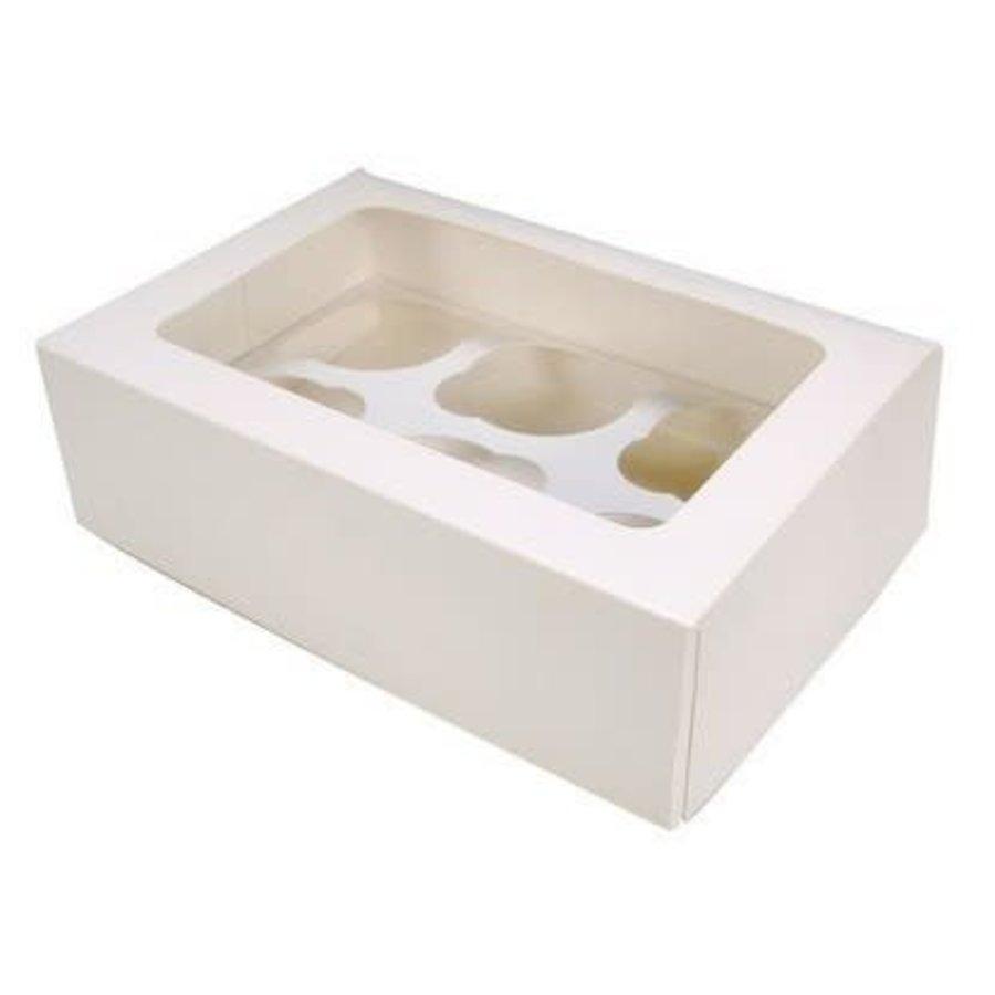 cupcake doos voor 6 cupcakes cupcake blanco-1