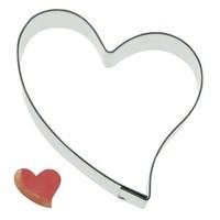 Koekjes Uitsteker hart schuin 5,5 cm