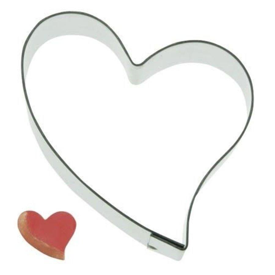 Koekjes Uitsteker hart schuin 5,5 cm-1