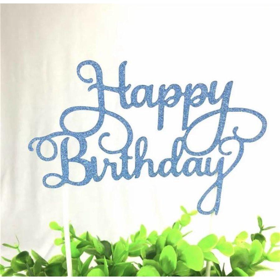 happy birthday topper blauw-1