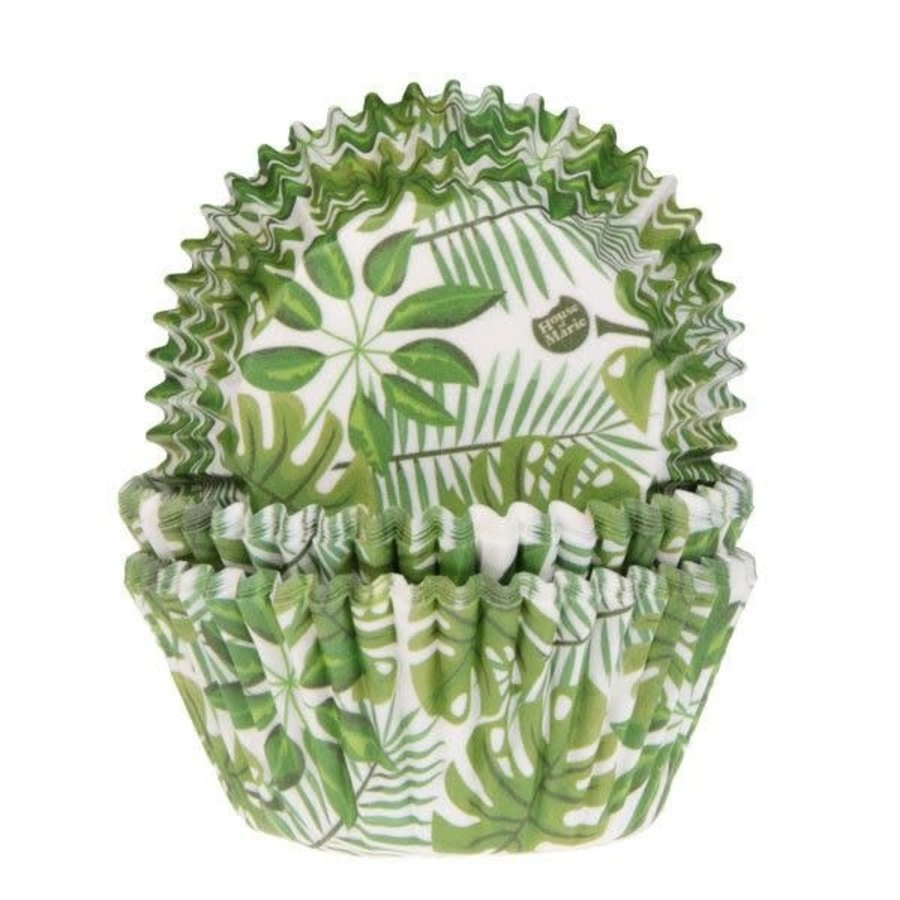 House of Marie Baking Cups Groen Blad pk/50-1