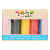 FunCakes Rolfondant Multipack primary Colours 5x100g