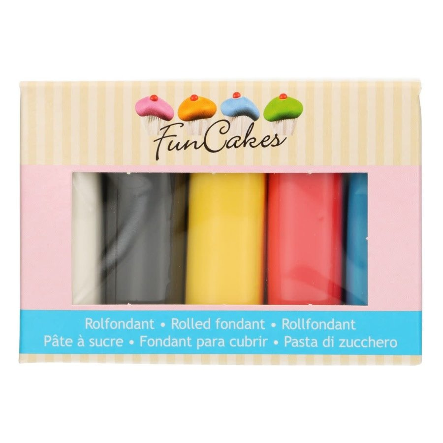 FunCakes Rolfondant Multipack primary Colours 5x100g-1