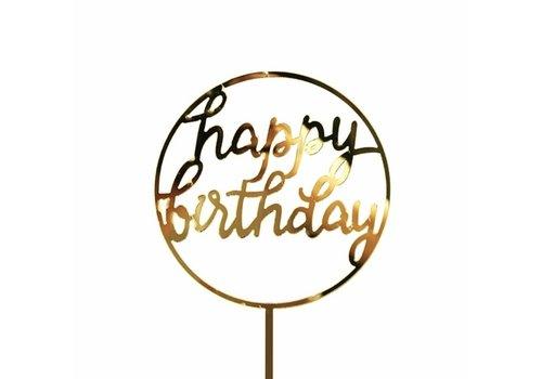 happy birthday topper cirkel