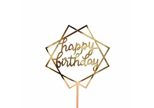 happy birthday topper square