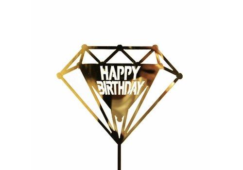happy birthday topper diamant