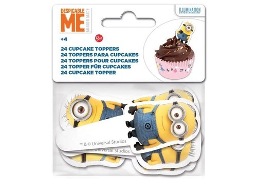 Stor Papieren Cupcake Toppers Minions