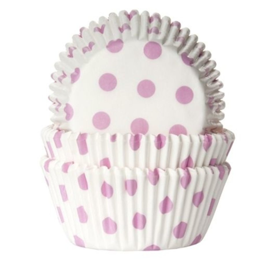 House of Marie Baking cups Stip Roze - pk/50-1