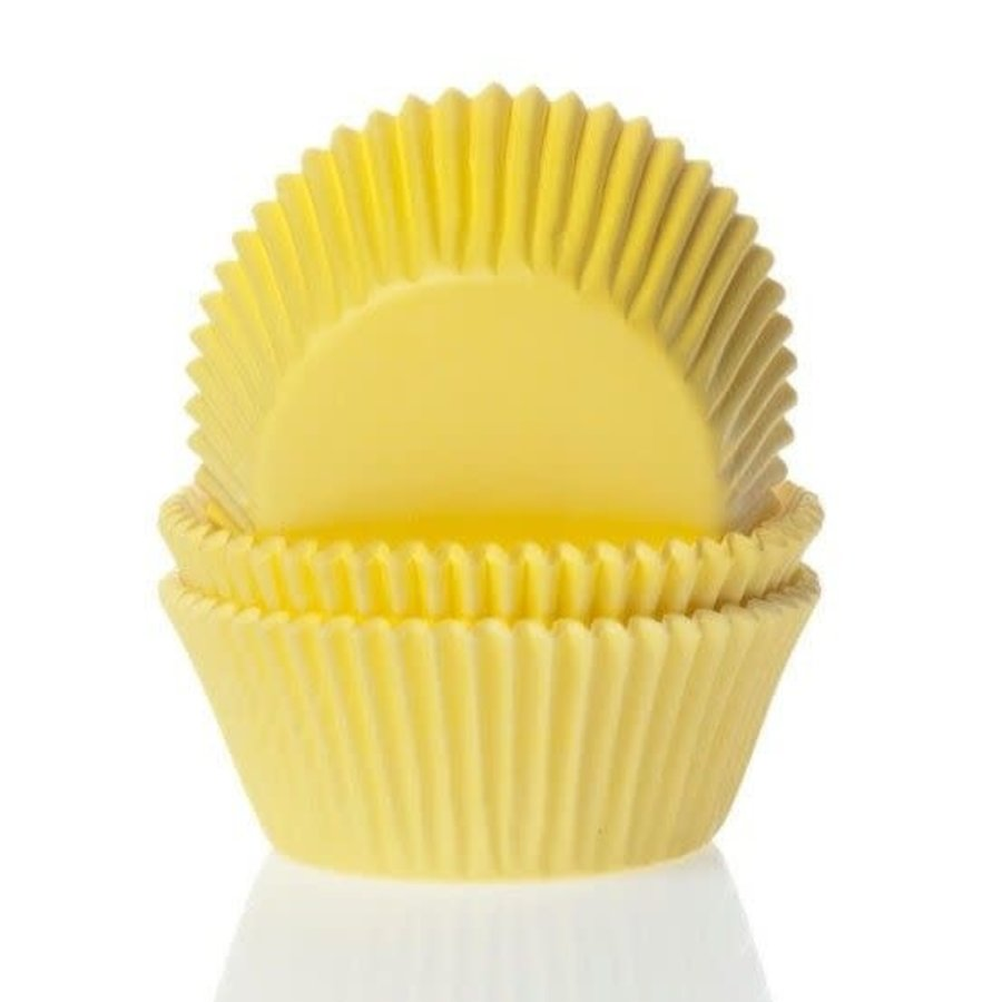 House of Marie Mini Baking cups geel - pk/60-1
