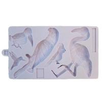 Karen Davies Siliconen Mould - Tropical Birds
