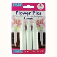 PME Flower Pics Large pk/6