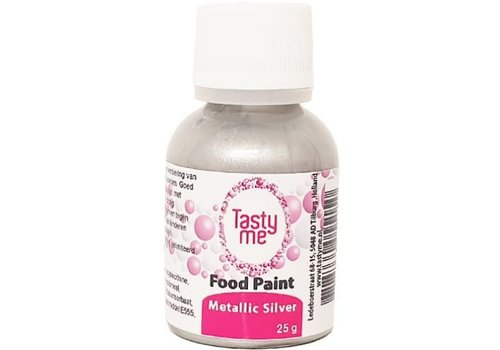 Food Paint Metallic zilver 25 gram