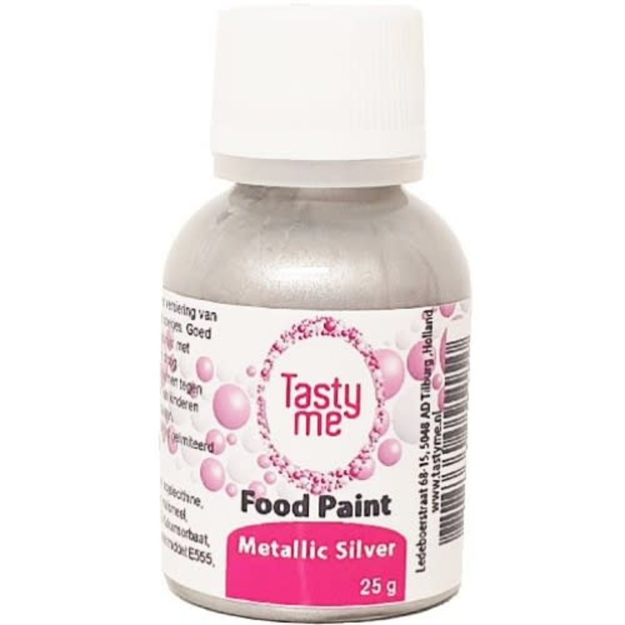Food Paint Metallic zilver 25 gram-1