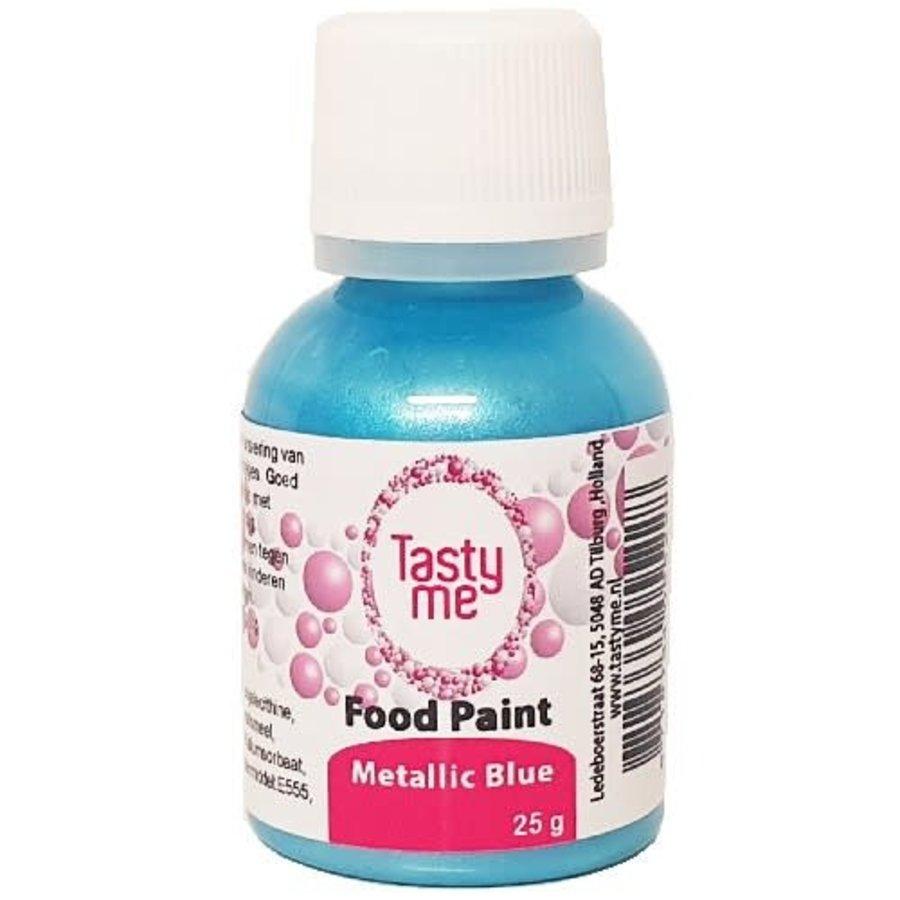 Food Paint Metallic blauw 25 gram-1