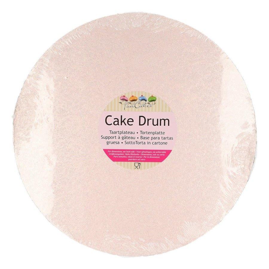 FunCakes Cake Drum Rond Ø25cm -Rose Goud-1
