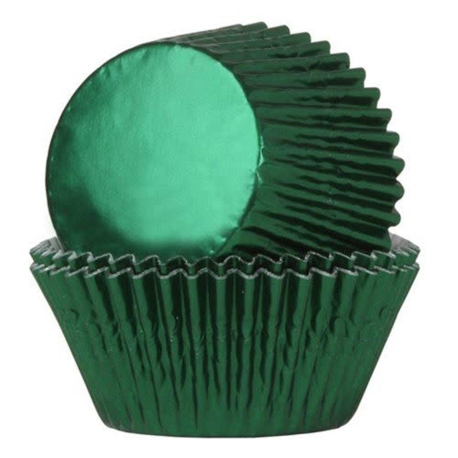 House of Marie Baking Cups Folie Groen - pk/24-1