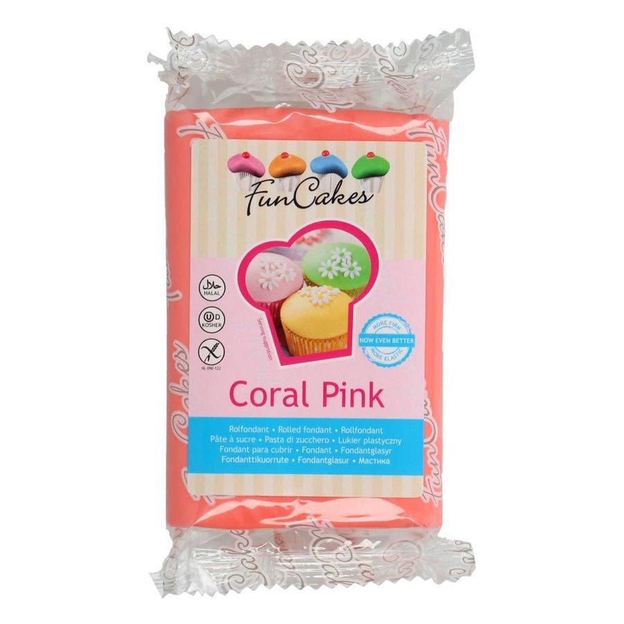 FunCakes Rolfondant -Coral Pink- 250g--1