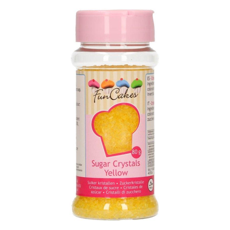 FunCakes Gekleurde Suiker -geel - 80g-1