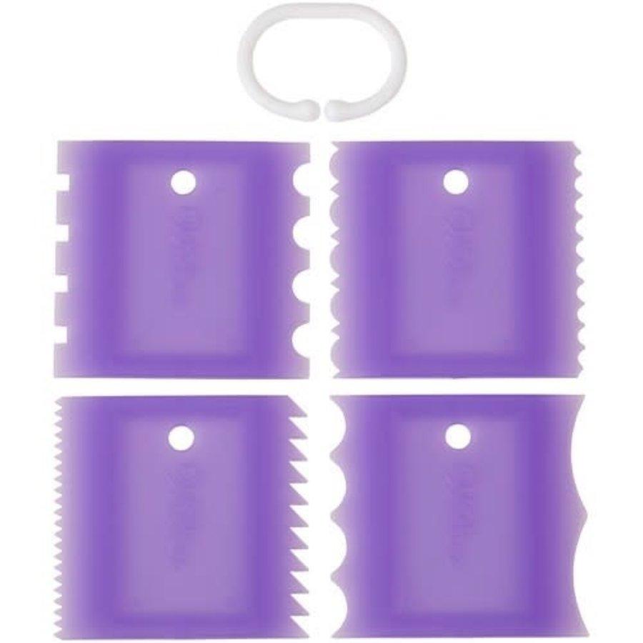 Wilton Texture scraper Tools Set/4-1