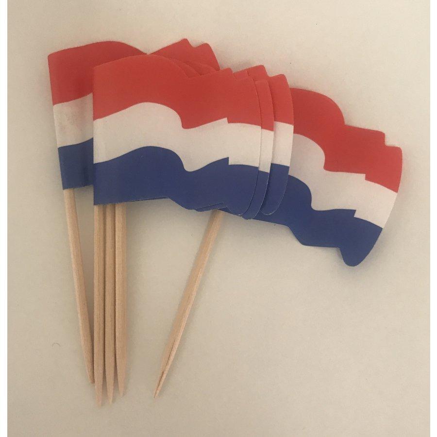 Vlaggetjes nederlandse vlag 25st-1