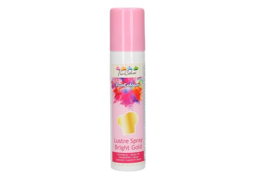 FunCakes FunColours Metallic Spray goud -Bright Gold- 100ml