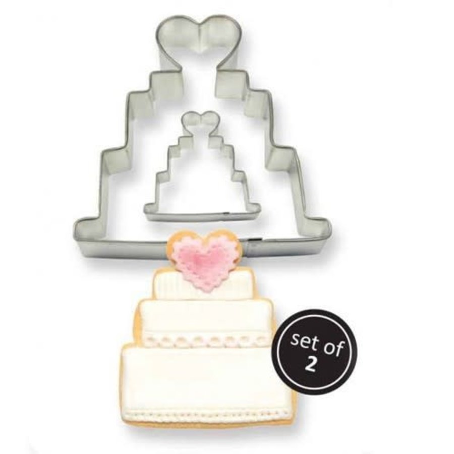 PME Cookie Cutter Wedding Cake set/2-1