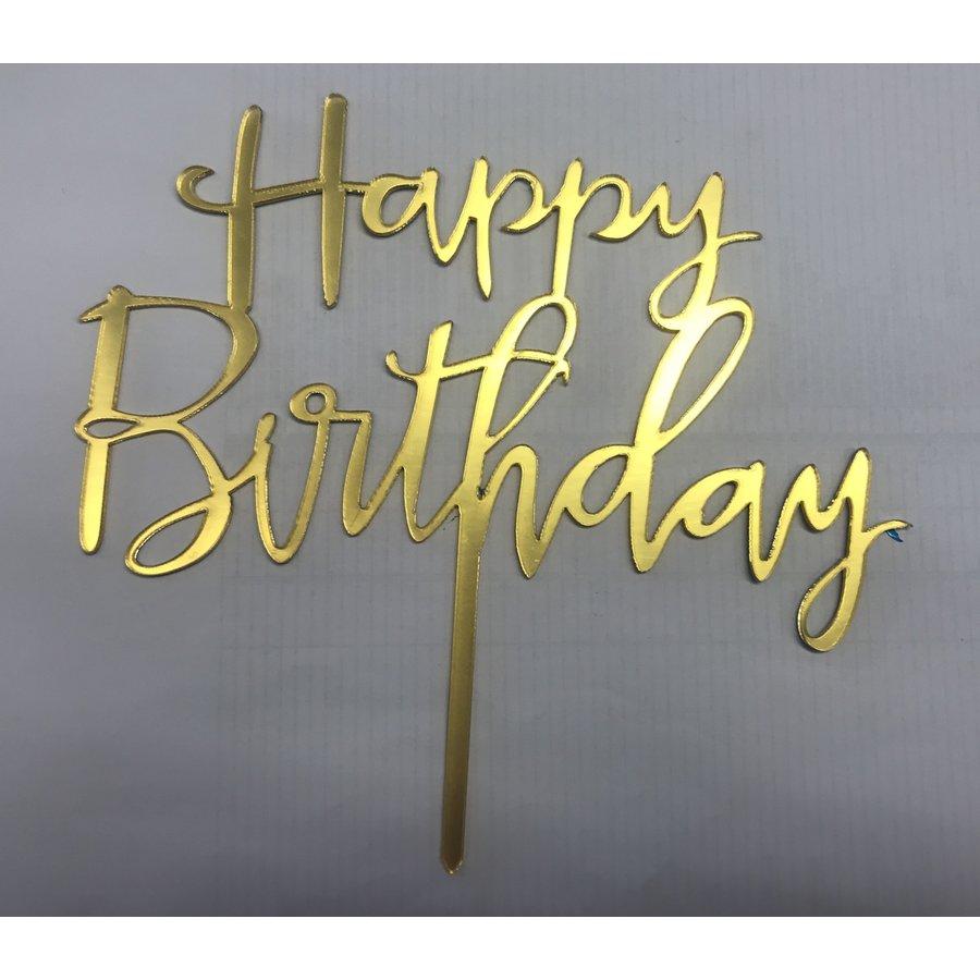 happy birthday topper sierlijk goud-1