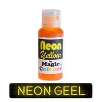 magic colours neon yellow geel