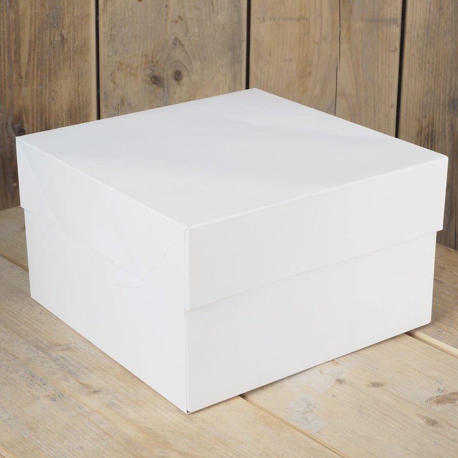 Taartdoos blanco 25x25x15cm zv-1