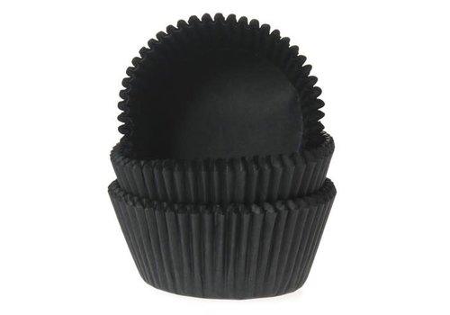House of Marie Mini Baking Cups zwart pk/60