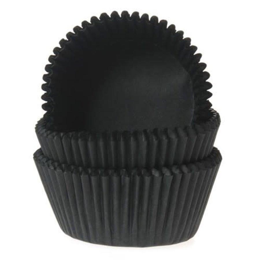 House of Marie Mini Baking Cups zwart pk/60-1