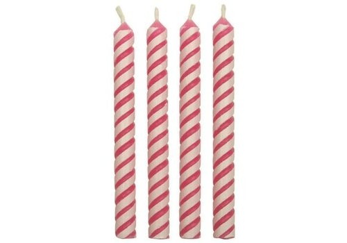 PME Candles Striped Pink Pk/24