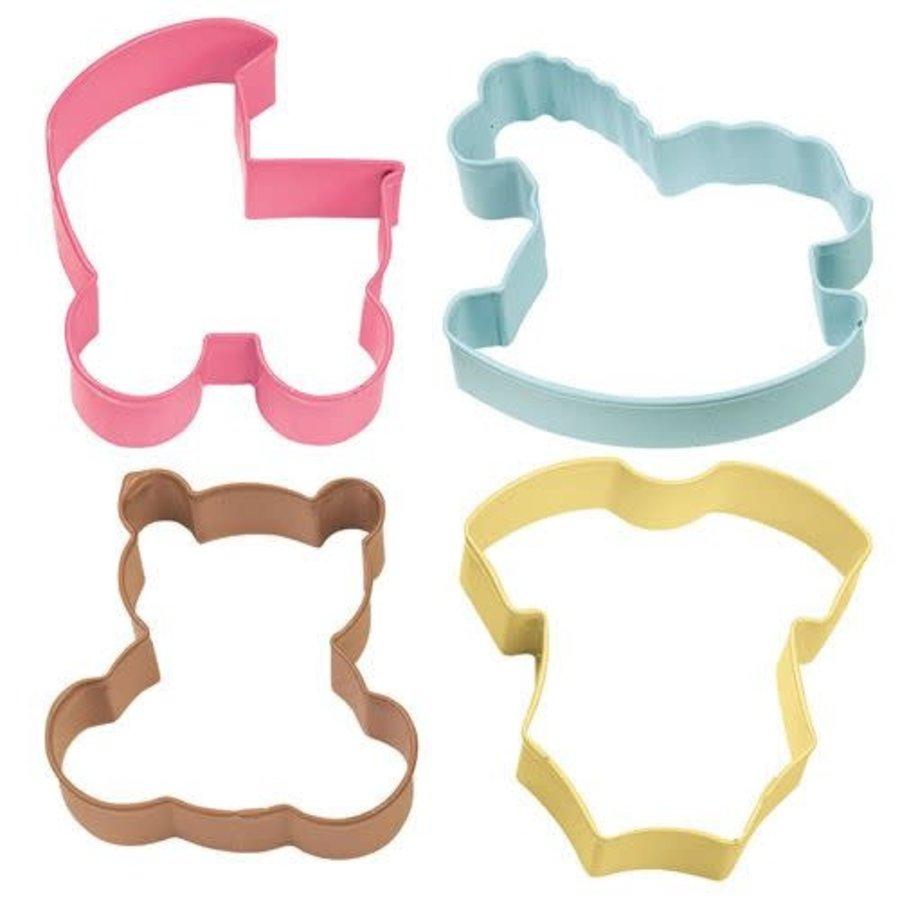 Wilton Cookie Cutter Baby Theme set/4-1