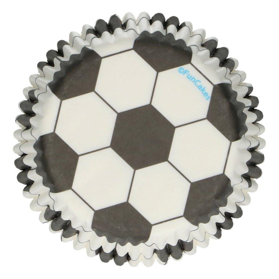 FunCakes Baking Cups -Soccer voetbal- pk/48-1
