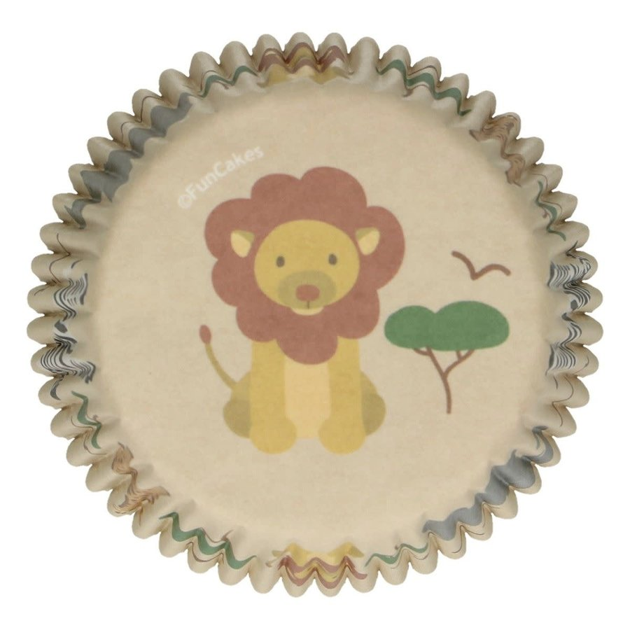 FunCakes Baking Cups -Safari Animals- pk/48-1